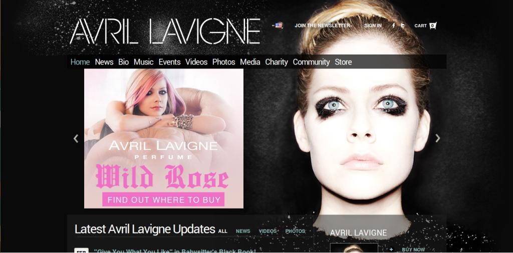 avrillavigne web design
