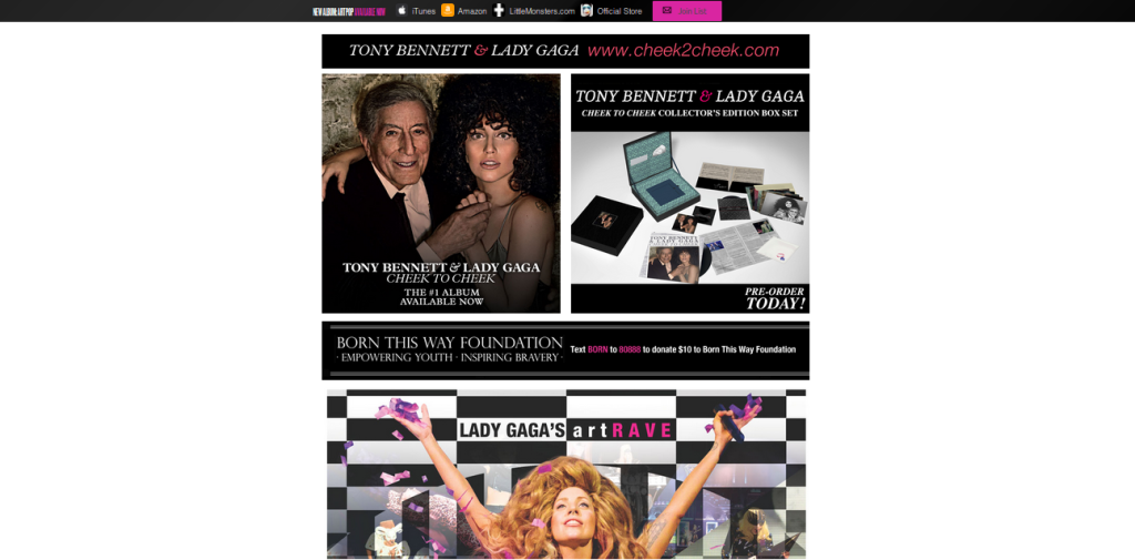 ladygaga website design