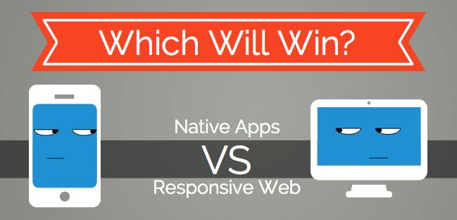 responsive vs mobile app