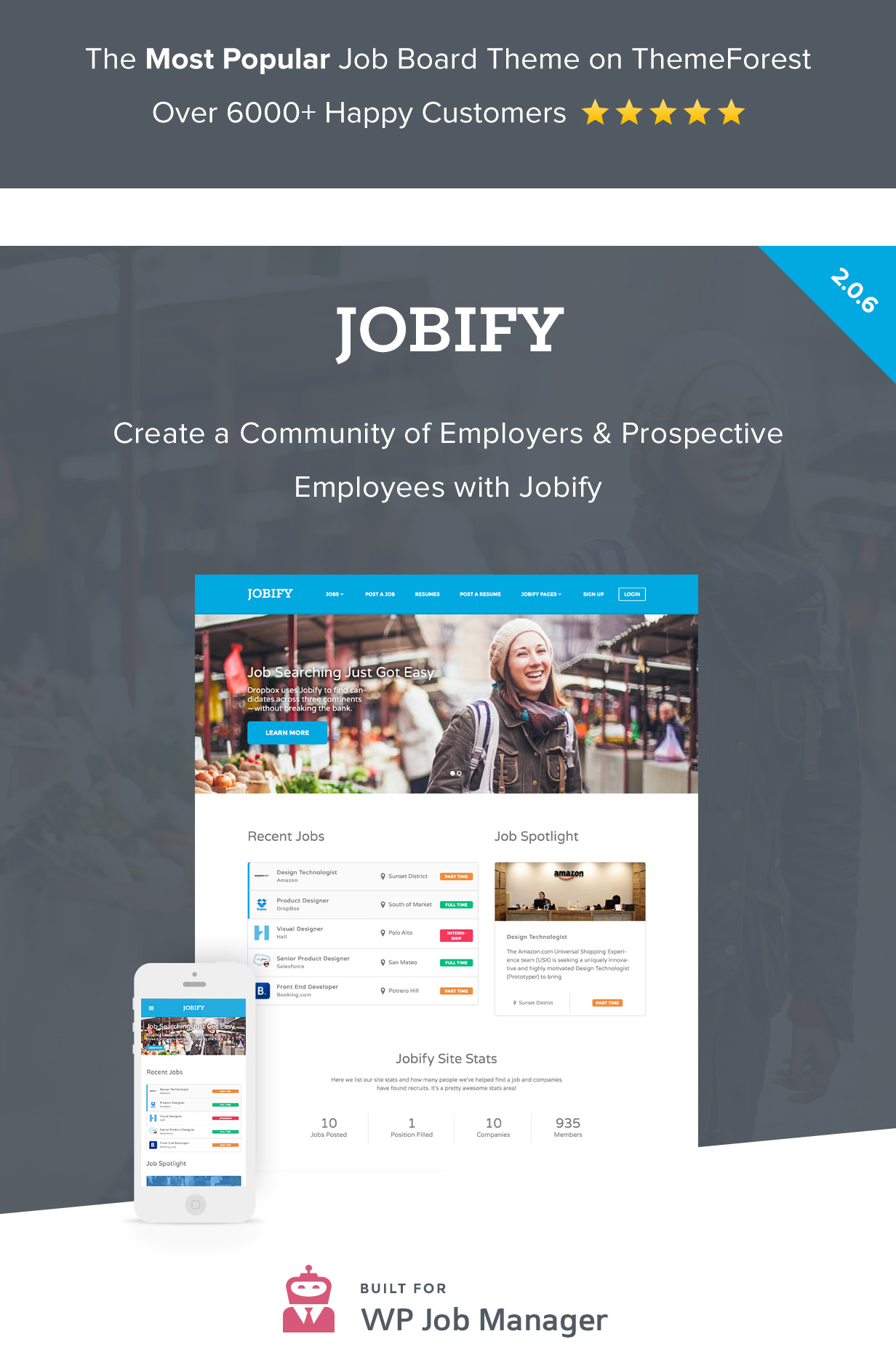 4 best job board themes plugins for wordpress site jobify job portal theme