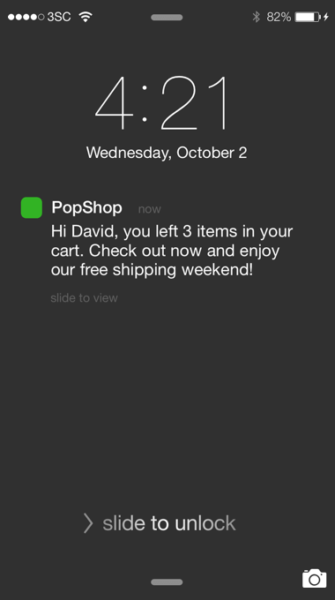 push-notification from mobile app