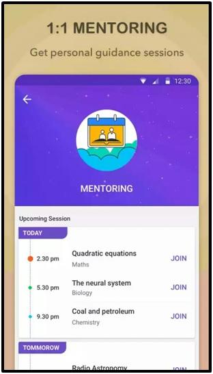 Byju app for mentoring