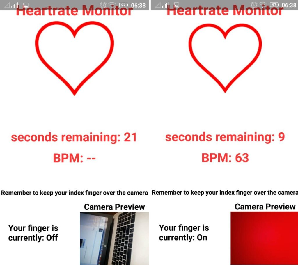 heartrate monitor mobile app