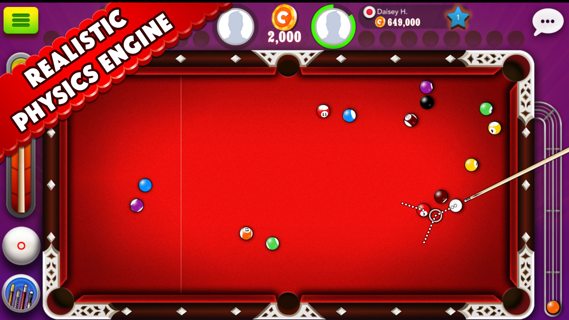 8 ball game mobile app