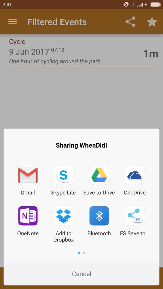 whendidI mobile app