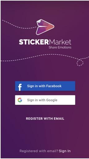 sticker market login page