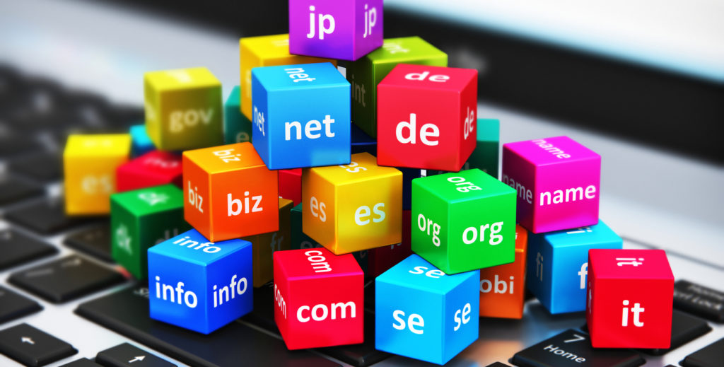 Internet and domain names concept