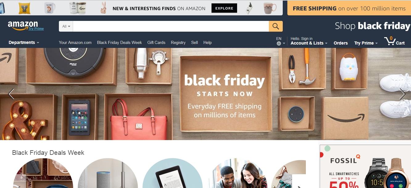 amazon website design