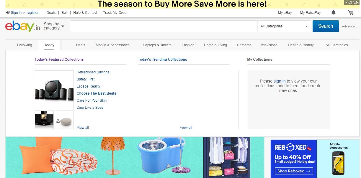 ebay website design